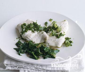Рецепт Рыба с соусом из лимона и петрушки