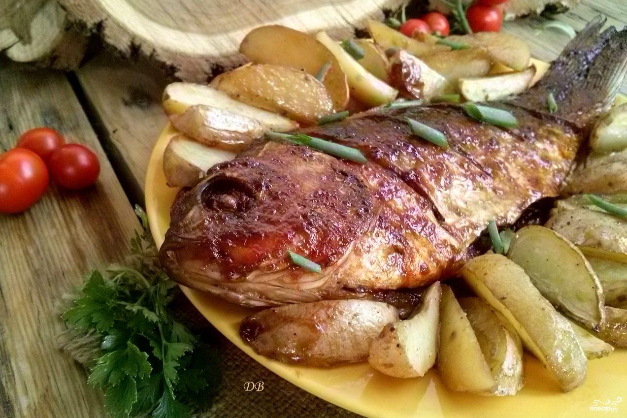 рецепты рыба в духовке сазана