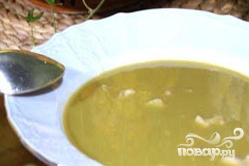 Гороховый суп-пюре с мясом