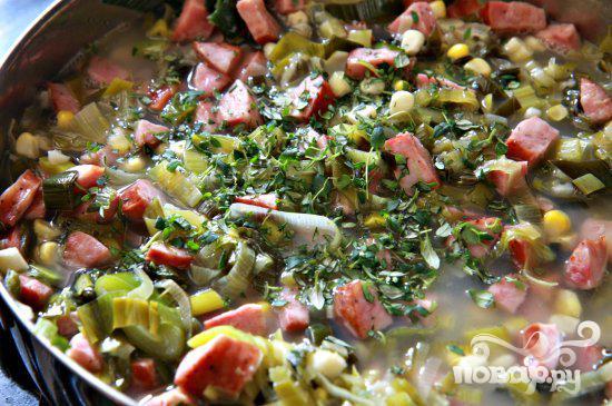 Пироги с креветками и колбасой - фото шаг 5
