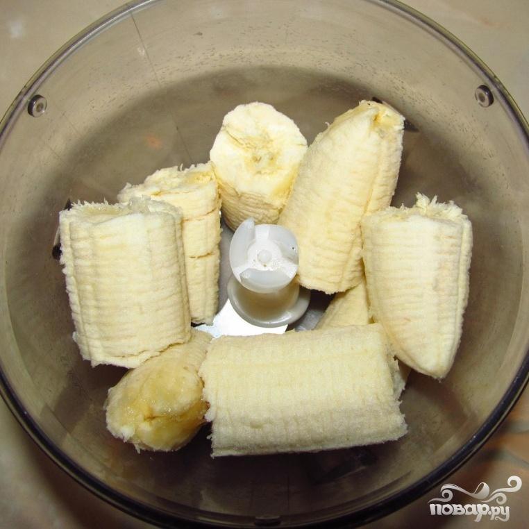Бананово-клубничный коктейль - фото шаг 1