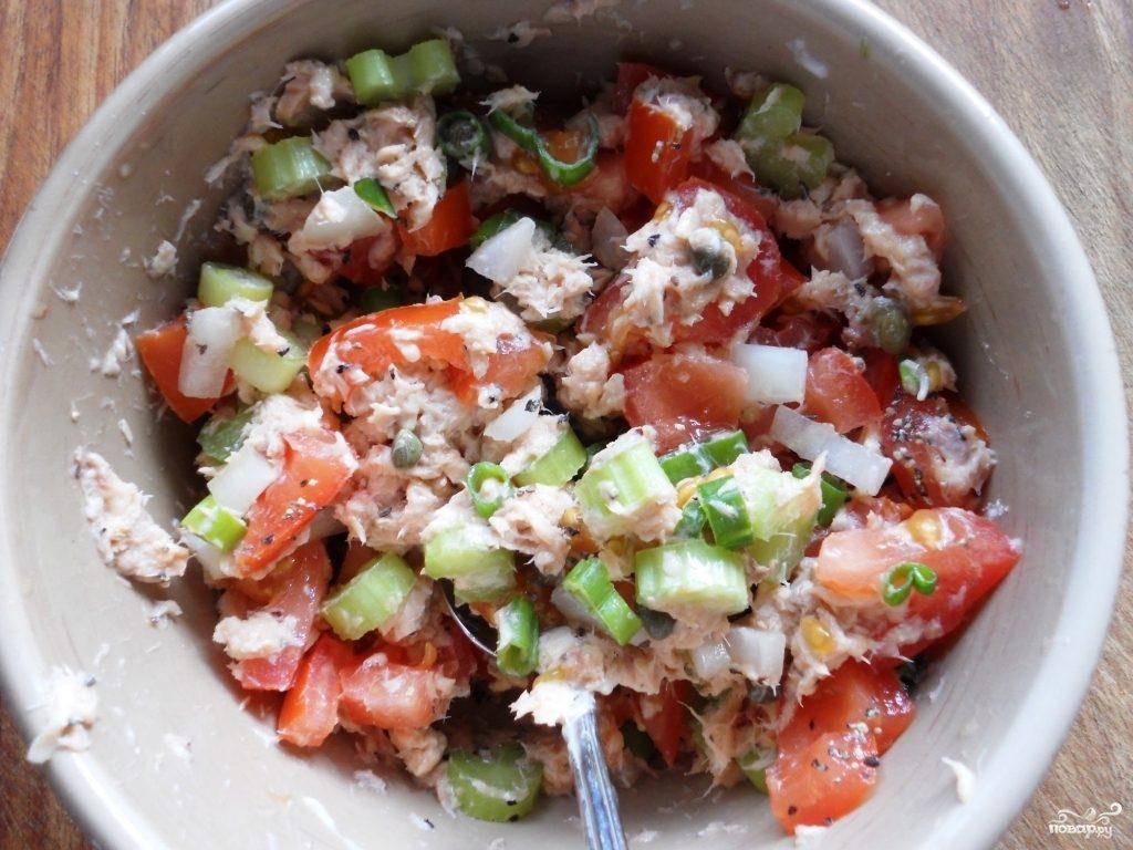 консервированной рецепт горбушей фото с с салата
