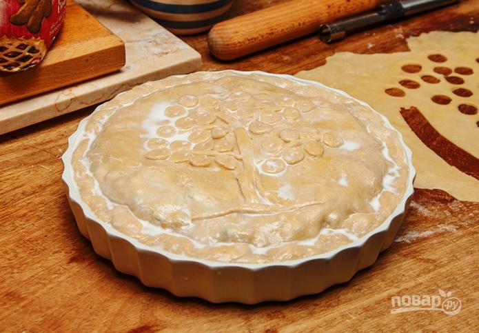 Пирог с черникой из бездрожжевого теста - фото шаг 6