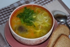 Постный грибной суп в мультиварке