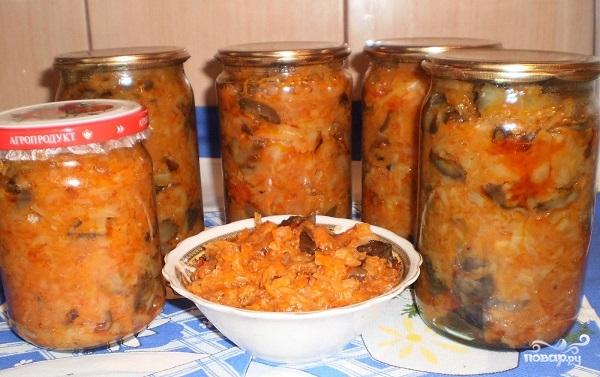 Рецепт Грибная солянка с овощами на зиму