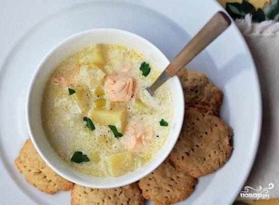 Суп из семги в мультиварке