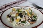 Салат мясной с грибами