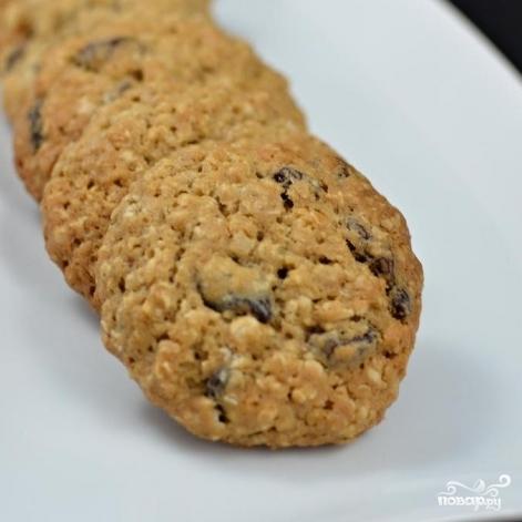 Овсяное печенье с изюмом - фото шаг 4