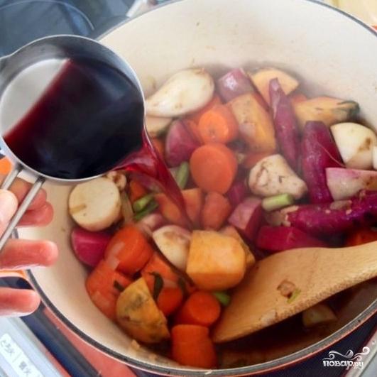 Тушеные овощи с красным вином и мускатным орехом - фото шаг 4