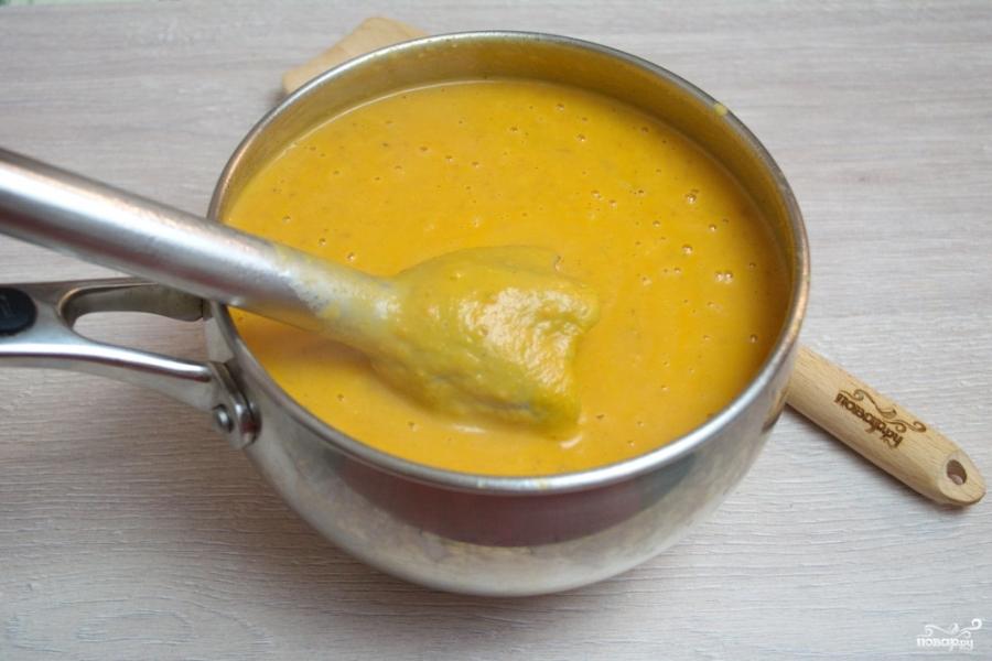 Сливочный томатный суп с базиликом  - фото шаг 8