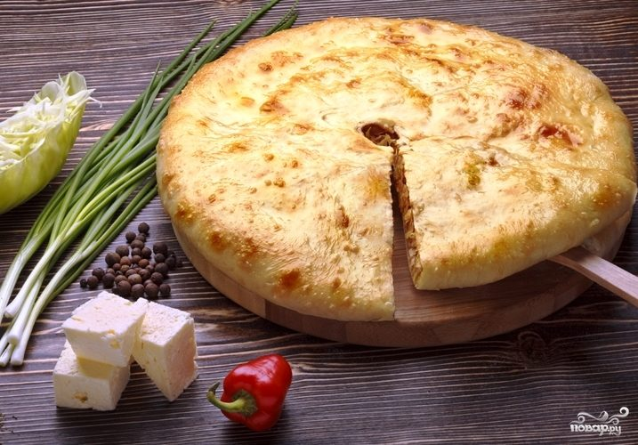 осетинский пирог рецепт с сыром и курицей с фото