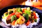 Говядина с брокколи и цветной капустой