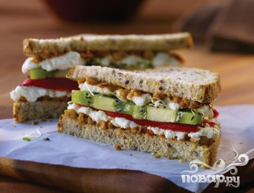 Рецепт Калифорнийский сэндвич с киви