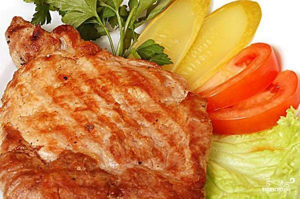 Рецепт Стейк из свинины