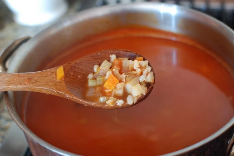 Суп с овощами и ячменем - фото шаг 10