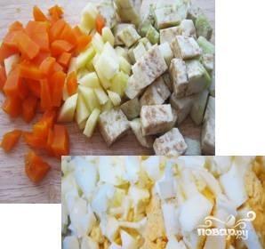 Салат с грибами вешенками - фото шаг 5