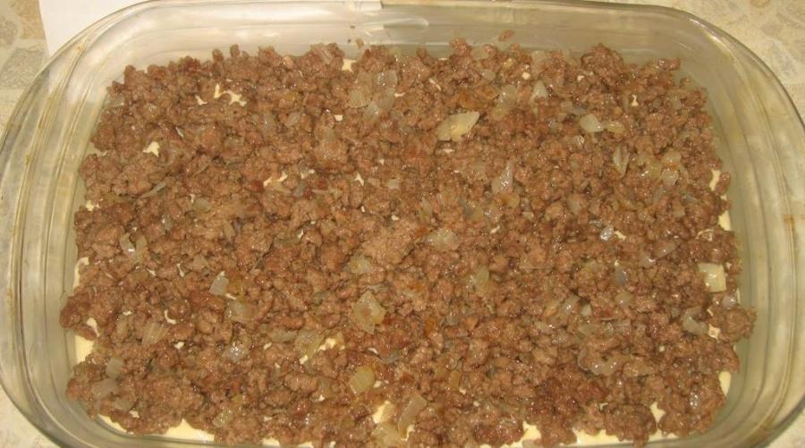 Пирог с фаршем на кефире - фото шаг 6