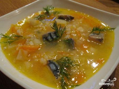 Рыбный суп из скумбрии рецепт с фото