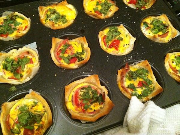 Тарталетки с сыром и яйцом - фото шаг 3