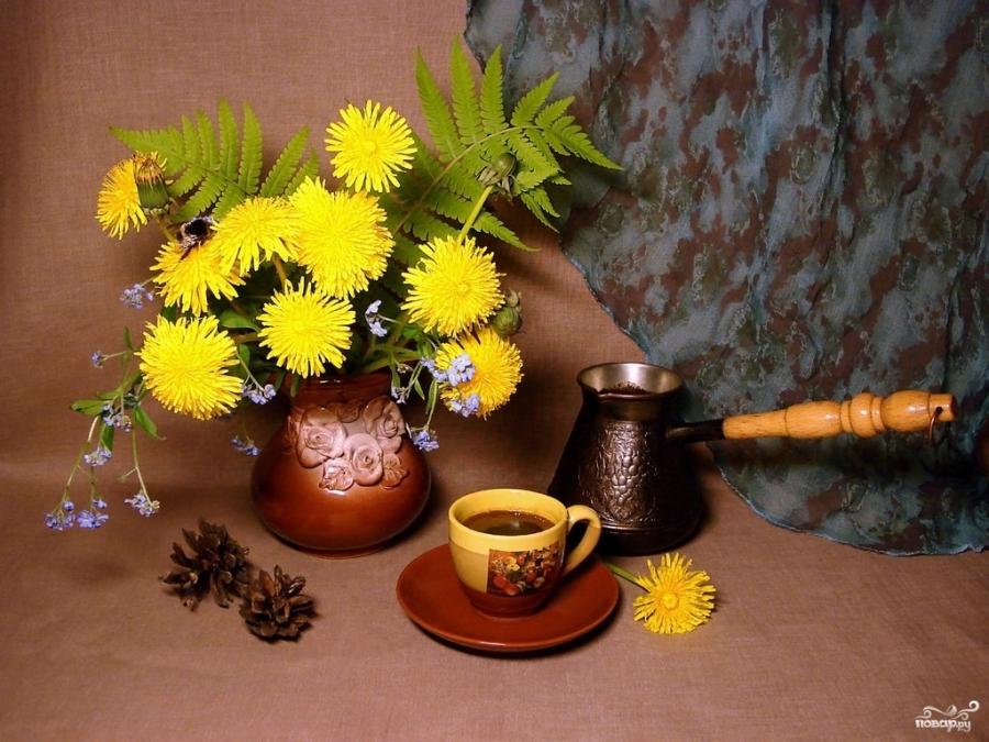как приготовить кофе из корней одуванчика