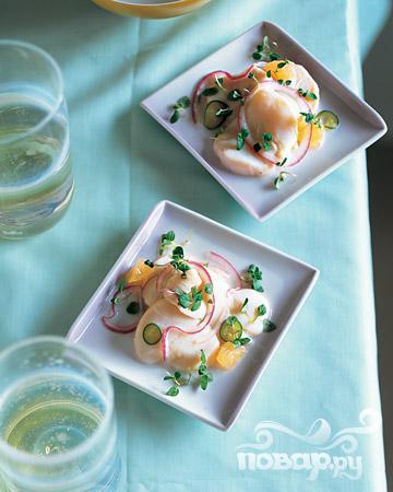 Рецепт Севиче с мятой и грейпфрутом