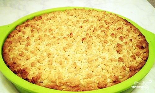 Песочный пирог с творожной начинкой - фото шаг 12
