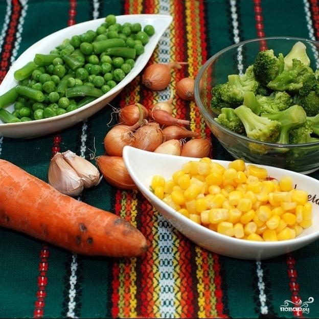 Рецепт Гарнир из басмати и овощей