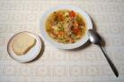Сытный суп из телячьего сердца
