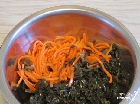 Морская капуста с морковью - фото шаг 3