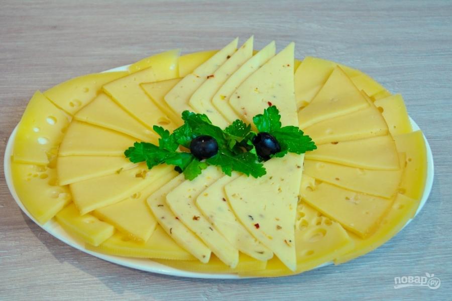 Сырная нарезка к вину - фото шаг 5