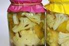 Маринованые патиссоны с капустой