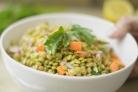 Диетический салат с чечевицей