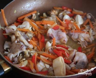 Рисовая лапша с морепродуктами - фото шаг 4