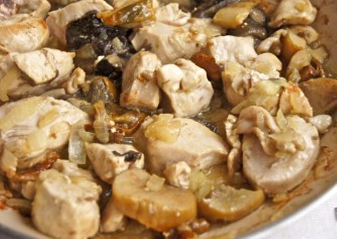 Запеканка с курицей и грибами   - фото шаг 2