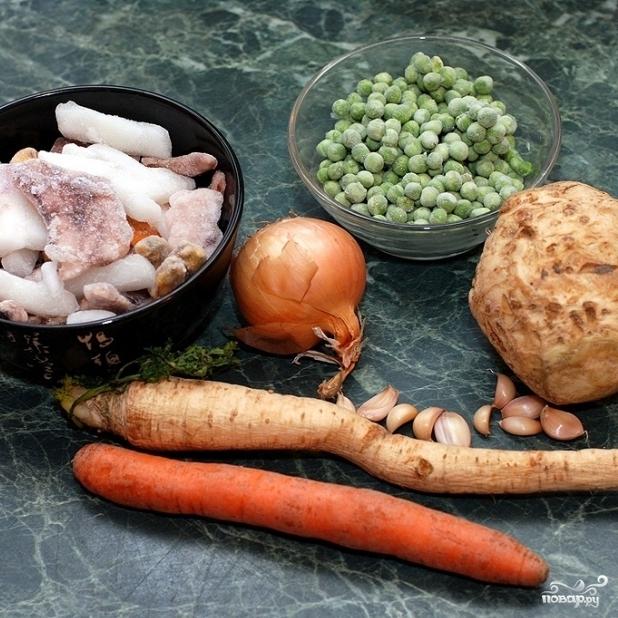 Басмати с овощами и морепродуктами - фото шаг 1