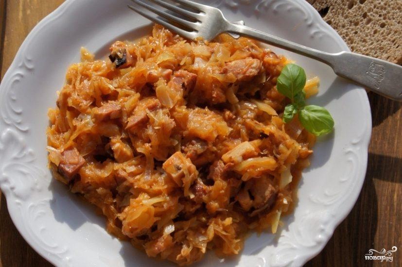 Рецепт Бигус с сосиской