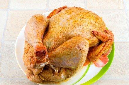Курица, фаршированная грибами и рисом - фото шаг 10