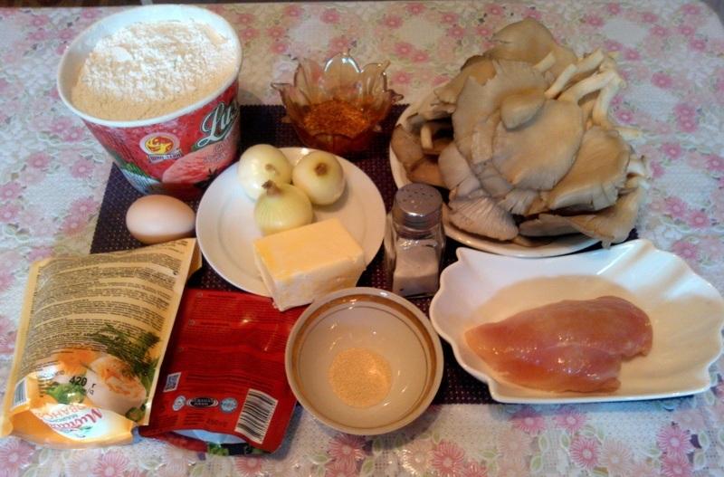 Рецепт Начинка для пиццы с грибами