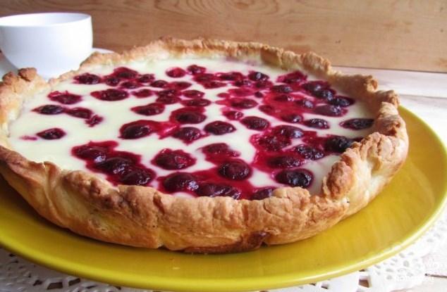 Вишневый пирог рецепт сметана