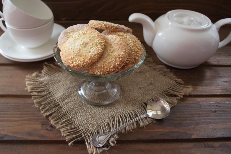 Печенье на сметане с кунжутом - фото шаг 7