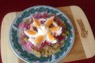 Салат из баклажана с яйцом