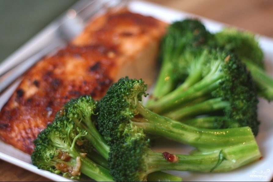 Рецепт Рыба запеченная с брокколи