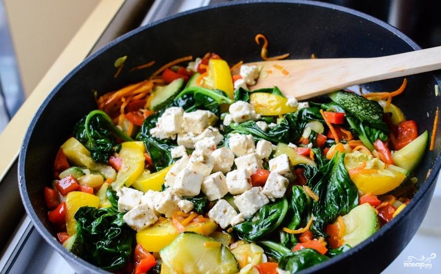 Овощное рагу со шпинатом - фото шаг 5
