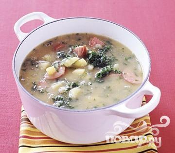 Рецепт Суп с колбасой и капустой
