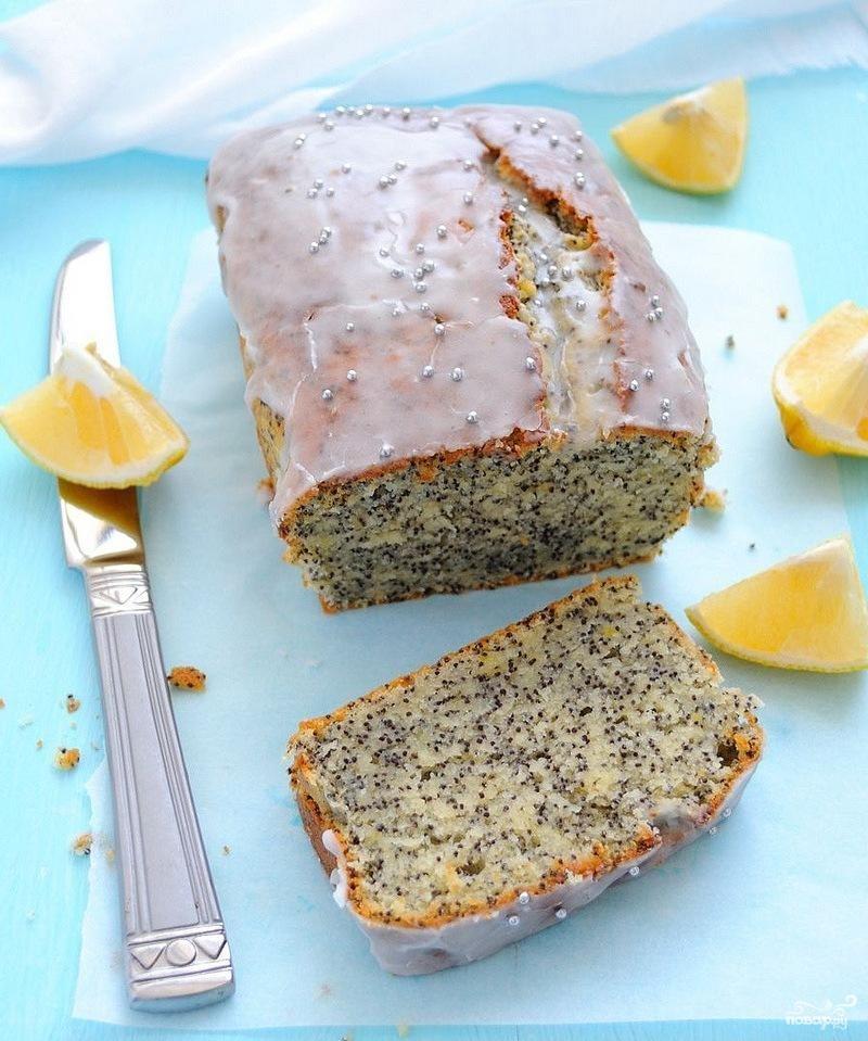 Рецепт Лимонный кекс с маком