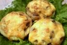 Кабачки с грибами в духовке