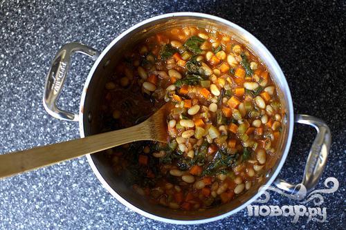 Рагу с фасолью и мангольдом - фото шаг 3