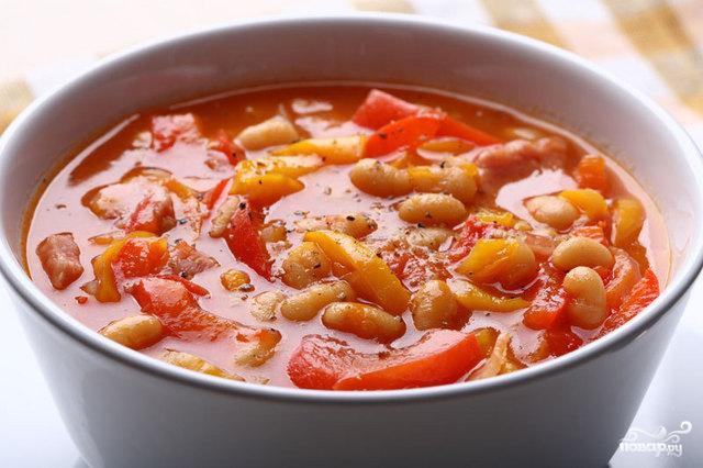 Супы с фасолью и томатами рецепты с фото