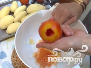 Фаршированные помидоры и картофель - фото шаг 7