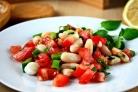 Салат из белой консервированной фасоли